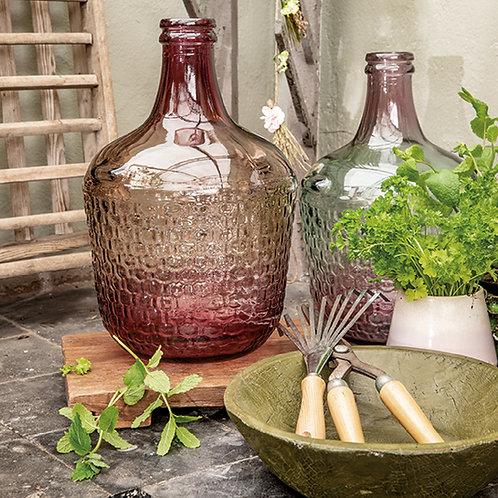 Vaso vetro sfumato bicolore