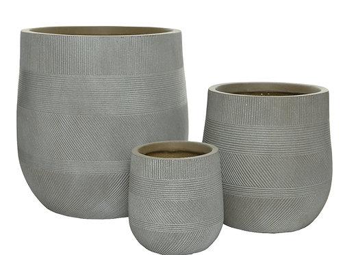 Tris vasi texture righe strette