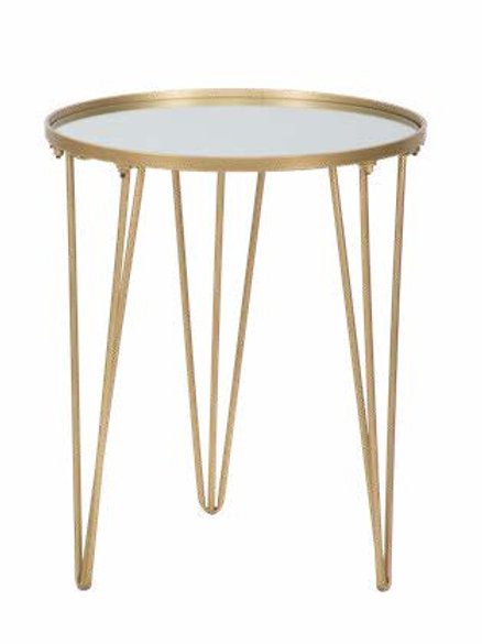 Tavolinetto da caffè glam oro-specchio