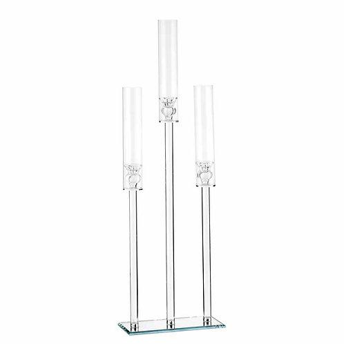 Candeliere Cristallo rettangolare