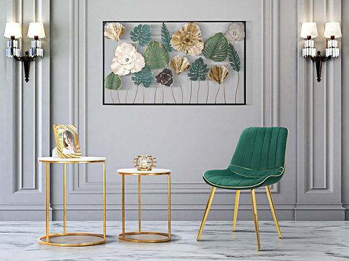 Set tavolino oro con base marmo