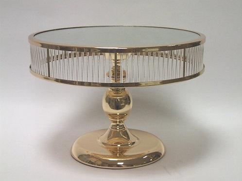 Alzatina specchio oro e plexi