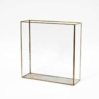 Teca in vetro con profilo in oro