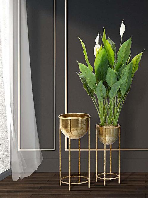 Porta piante in oro s/2
