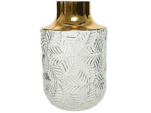 Vaso bianco e oro