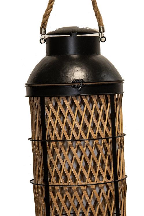 Lanterna vimini e bamboo