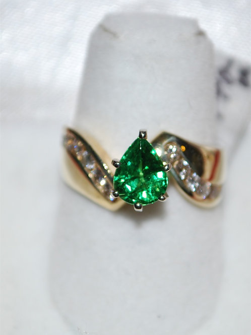 Tsaverite Garnet ring  RA102