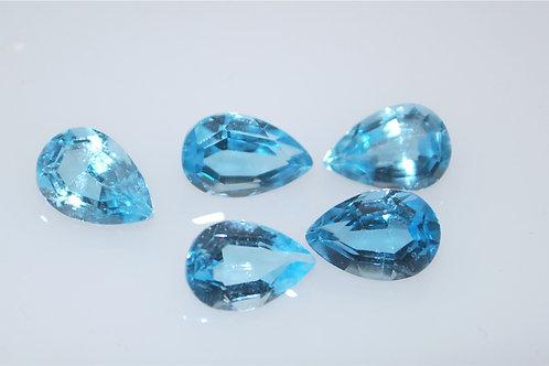 6x4  oval blue topaz med- blue color