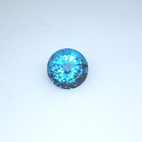 Swiss Blue Topaz Round  12 mm