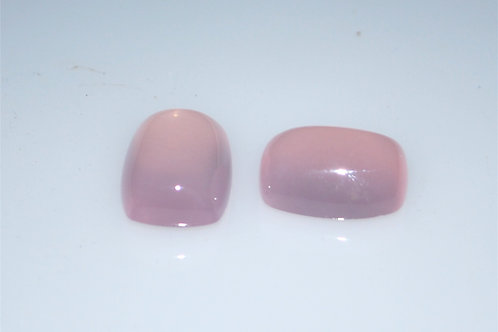 Rose quartz cabs 18 x 13 cushion sold sepertaly