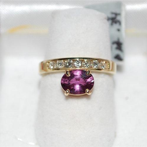 Sapphire and diamond ring custom RA104