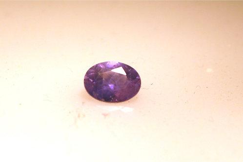 Purple Sapphire oval 8 x 6 mm 1.39 carats