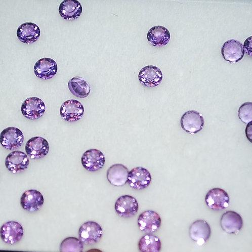 Amethyst 2.5 mm round