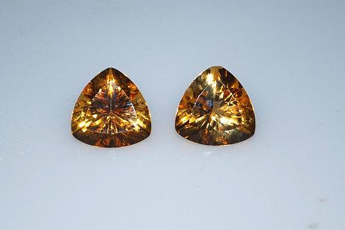 Citrine trillians 15x15 mm  7 plus carats each