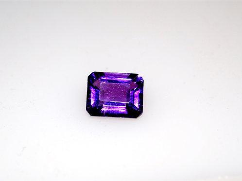 10 x 8 Emerald cut amethyst deep purple