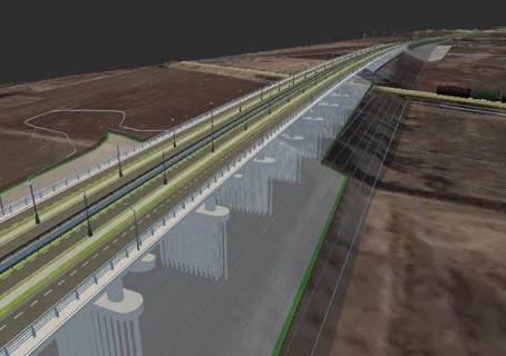 Motorway Visualization of Bucharest Ring, Romania