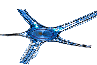 Roundabout Design with automations in Crete, Greece