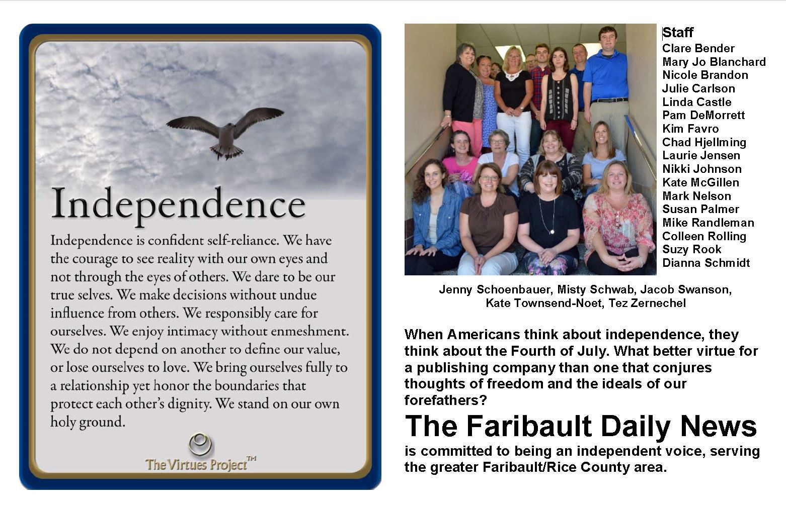 Faribault Daily News Independence.JPG