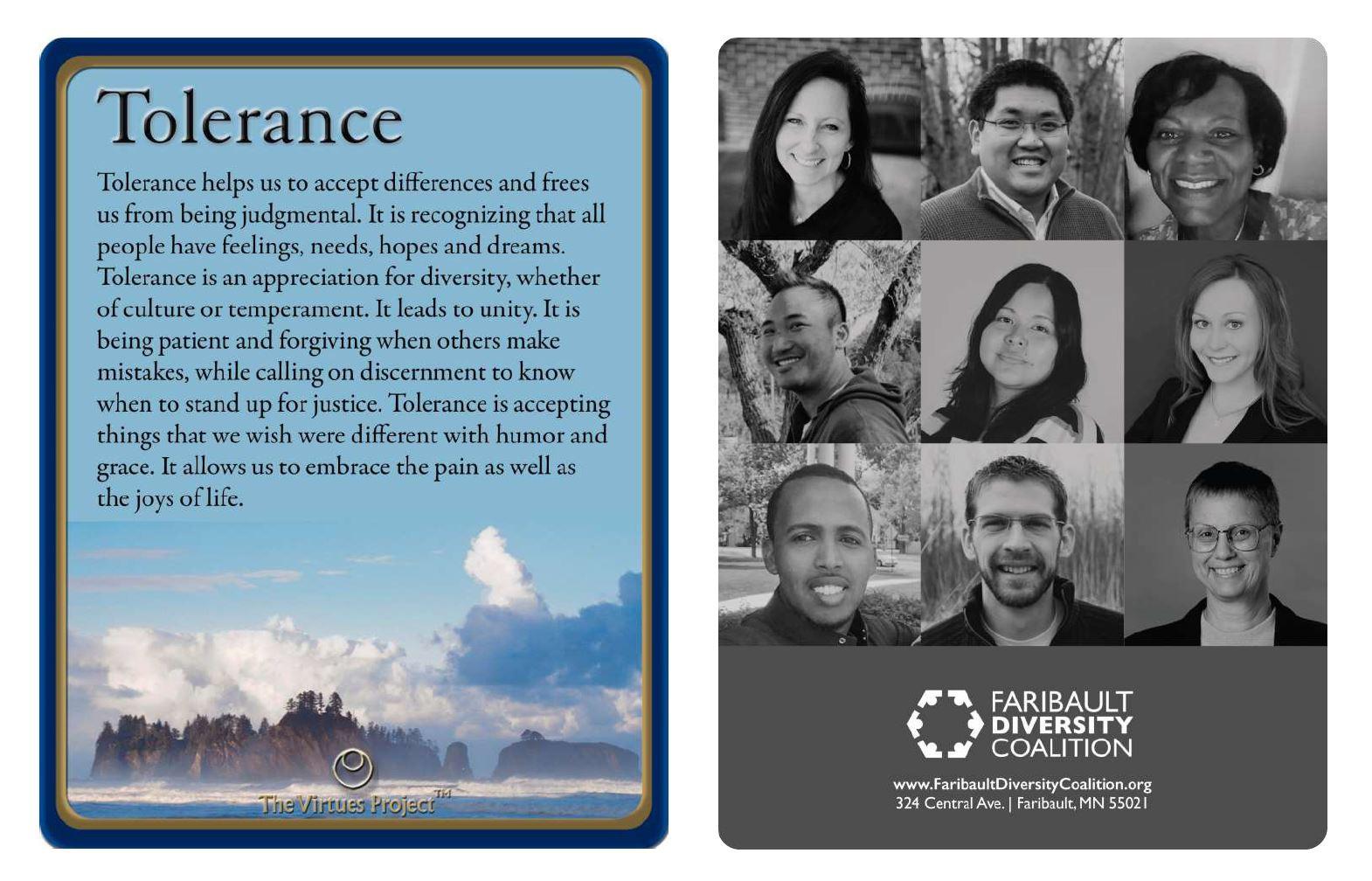 Faribault Diversity Coalition Tolerance.