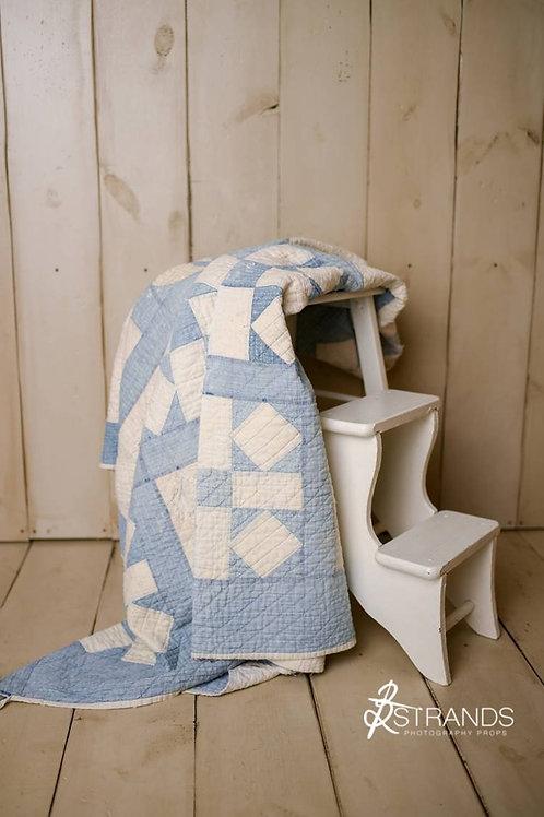 Vintage Patchwork Pinwheel Quilt