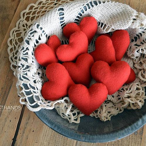 Red Felt Heart Stuffies |  approx. 2.5 in