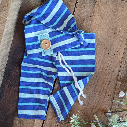 Blues Stripes Knot Cap Set | newborn