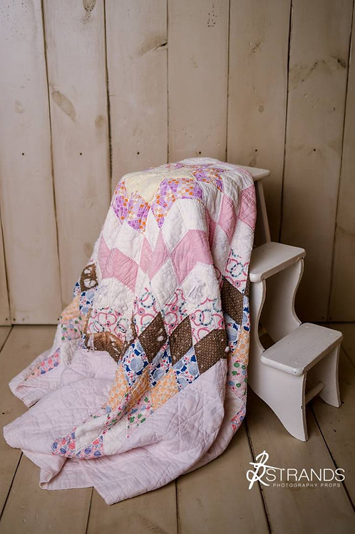 Primarily Pinks Tattered Lone Star Quilt