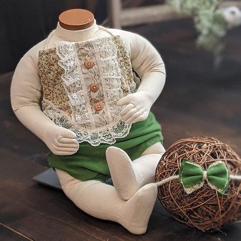 Pumpkin Patch Floral Button Front Halter & Tieback   sitter large