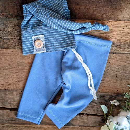 Little Boy Blue Knot Set | newborn