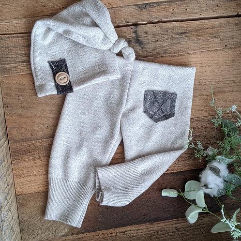 Light Taupe Pocket Knot Set | newborn