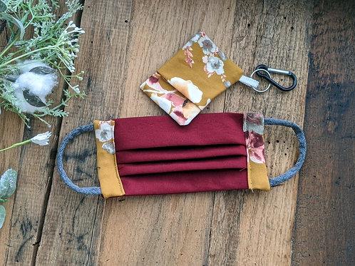 Cranberry & Honey Mustard Floral MaskMate Set   adult