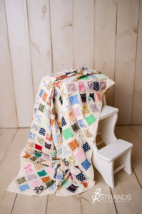 Vintage Cathedral Window Quilt