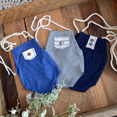 Solid Button Onesie | newborn