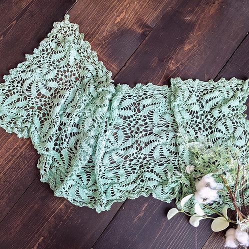 Mint Pinwheel Vintage Lace