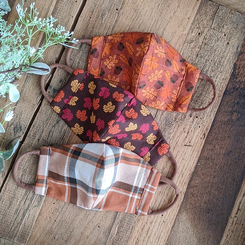 Fall Fitted Re-Usable Cloth FaceMask | adult