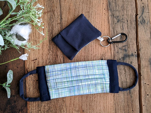 Navy Linen-Look MaskMate Set | adult