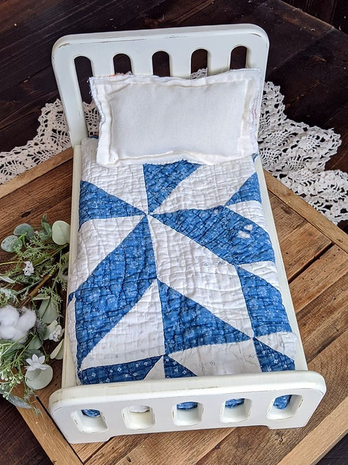 Tattered Blues Quilt Layer