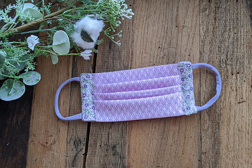 Lavender & Calico Accent Re-Usable Cloth FaceMask | adult
