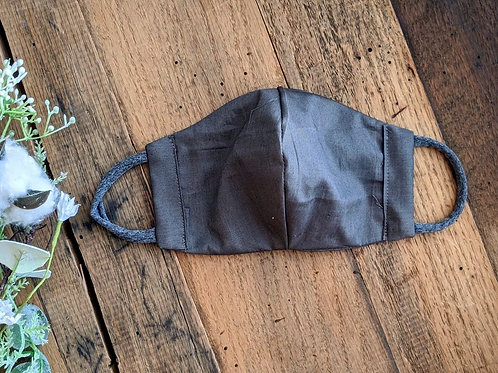 Solid Charcoal Fitted Re-Usable Cloth FaceMask | adult