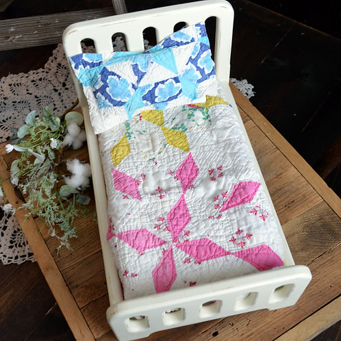 Multicolored PInwheel Vintage Quilt Bundle