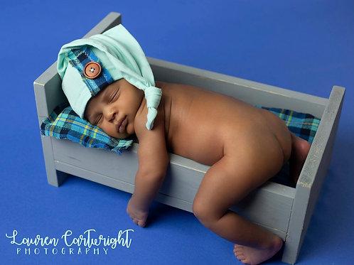 Sky & Mint Plaid Sleepy Bundle   newborn