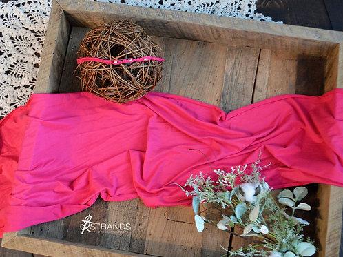 Solid Watermelon Wrap & Tieback Set