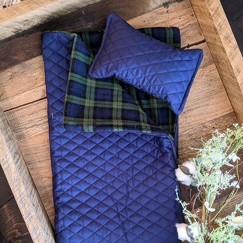 Newborn Sleeping Bag Prop Set | Navy & Hunter