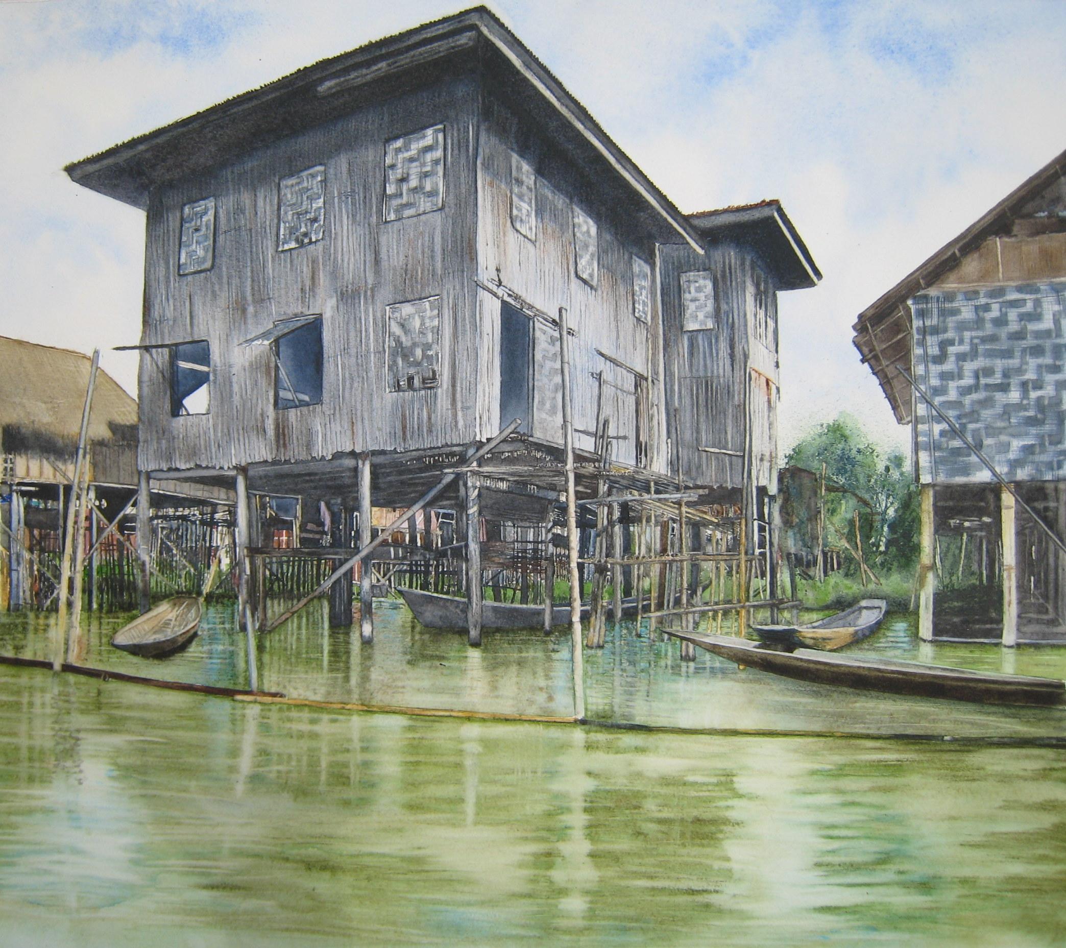 Sur le lac Inlé en Birmanie