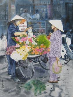 Sur le marché de Hà Nôï