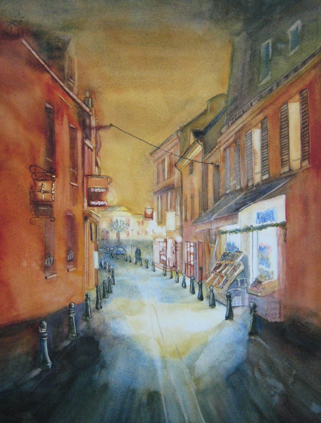 Rue de Paron à Verrières-le-Buisson
