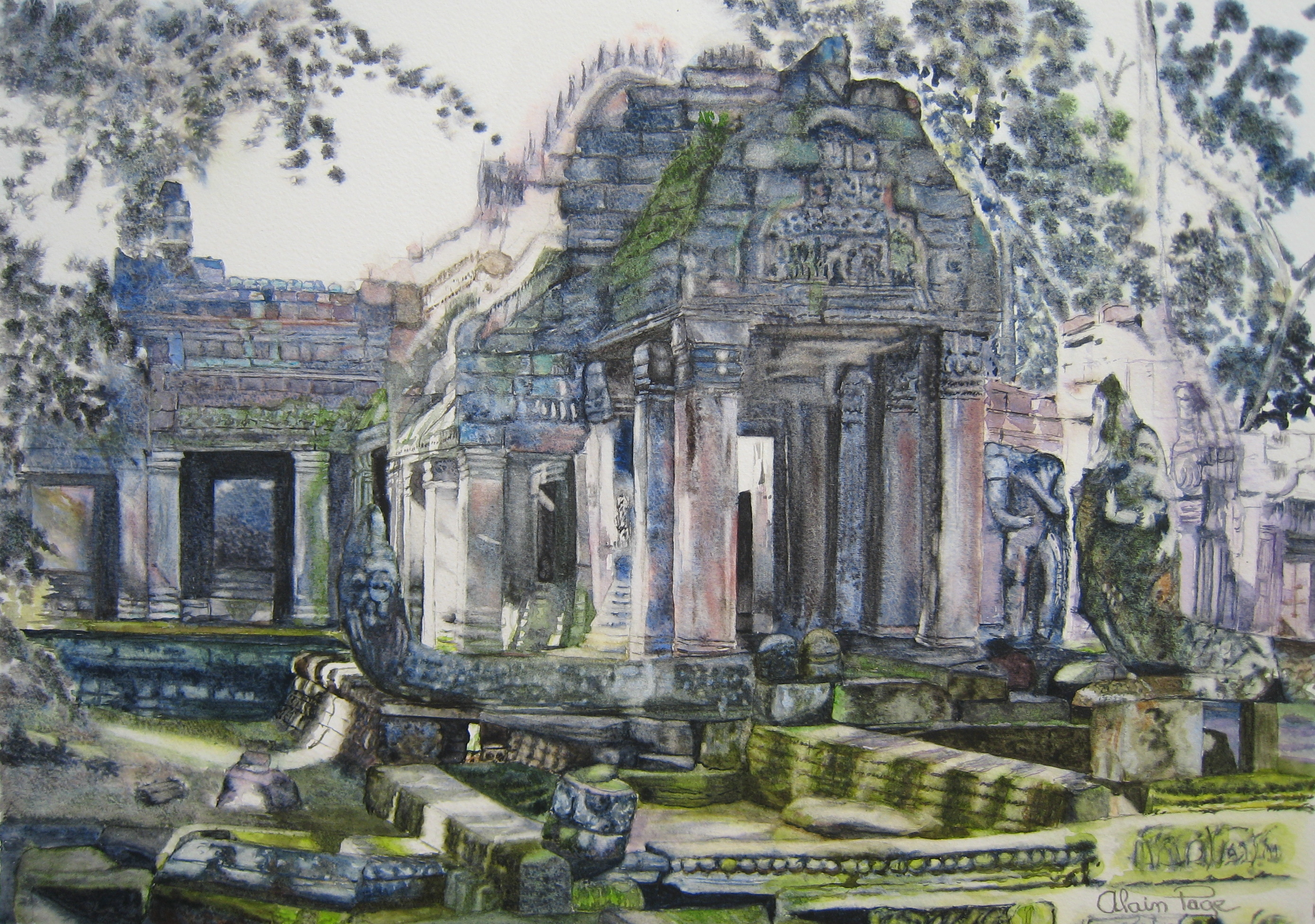 Petit temple à Angkor