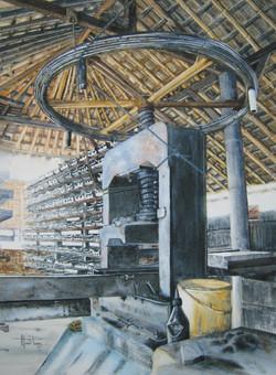 Fabrique de tuiles à Bali