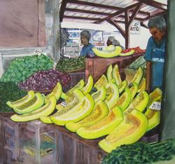 Sur le marché de Papeete