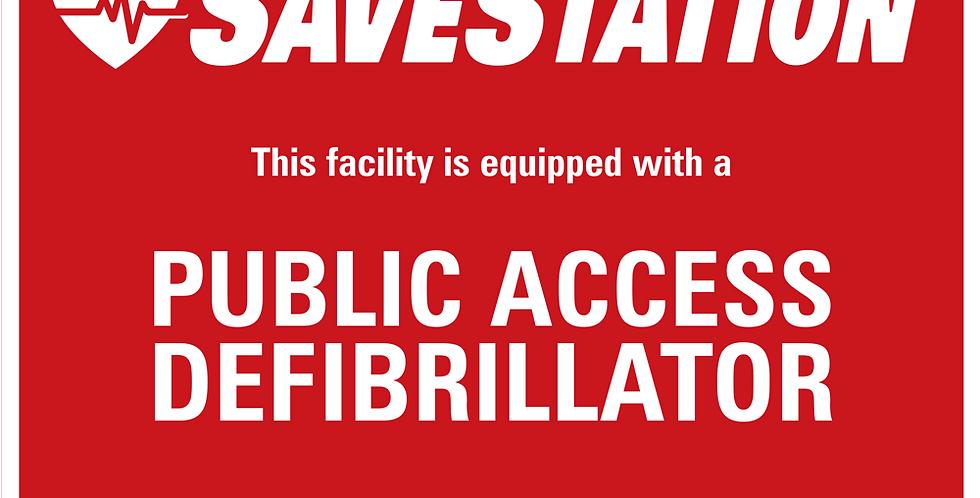 SaveStation Front Door Sticker